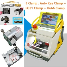 3 Clamps automatic key cutting machine SEC-E9 portable smart duplicate car key cutting machine SEC E9 Work Car Truck Motorcycle