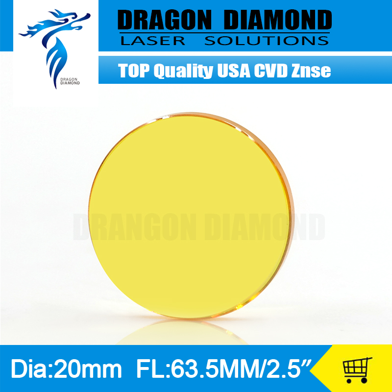 Factory Price High Quality USA ZnSe Laser Lens Mirror 20mm Diameter 63.5mm Focus Length For CO2 Laser Cutter<br><br>Aliexpress