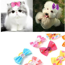 50pcs/set Mixed Mix Designs Butterfly Knots Rubber Band Dog Bows Pet Hair Bows Dog Hair Accessories Pet Grooming Products(China)