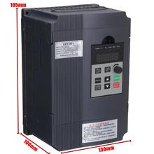 1pc Single Phase Variable Inverter 2.2KW 3HP Frequency Drive Inverter VSD VFD PWM Control 195*130*100mm For Motor Speed Control(China)