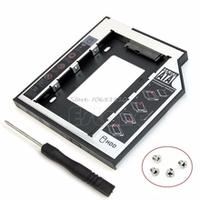 New Universal 9.5mm SATA 2nd HDD SSD Hard Drive Caddy For CD DVD-ROM Optical Bay -R179 Drop Shipping