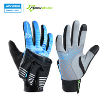 ROCKBROS Cycling Bicycle Winter Full Finger Gloves Outdoor Sport love Waterproof Bicycle Bike Gloves Inside Out Touch Screen