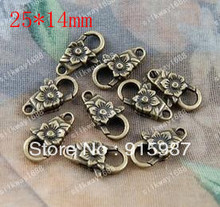 Sweet Bell 50PCS/lot 25*14mm button jewelry bags wholesale lobster clasp design restoring ancient ways lobster clasp