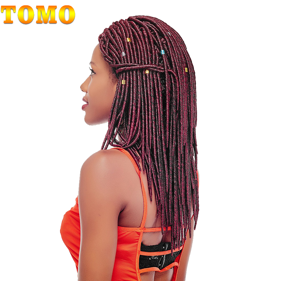"TOMO 12"" 20Roots/Pack Faux Locs Crochet Hair Extensions Ombre Crotchet Braids Synthetic Kanekalon Braiding Hair(China (Mainland))"