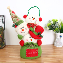 New Sale Cute Christmas Santa claus Snowmen Elk Dolls Christmas Decoration For Home New Year Xmas Gift For Kids(China)