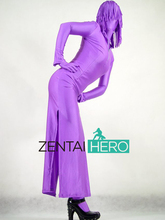 Free Shipping DHL Discount Sexy Full Body Adult Purple Zentai Suit Dress Leotard For Events and Halloween Party Plus Size S-XXXL