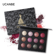 UCANBE Brand 12 Color Baked Eyeshadow Makeup Palette Long Lasting Shimmer Metallic Eyes Shadow Glitter Pigmented Cosmetic Eyes(China)