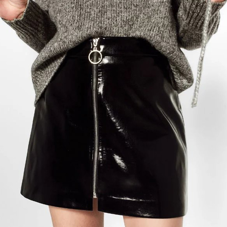Shiny Leather Skirt Promotion-Shop for Promotional Shiny Leather ...