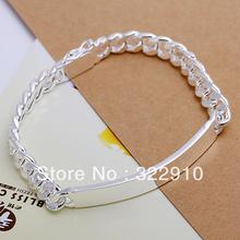 Factory price!New fashion 925 Sterling Silver bracelets 8MM Men's Bracelet Free Shipping Christmas Day gift H182