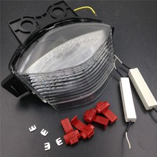Aftermarket free shipping motorcycle parts LED Tail Brake Light for 2006 2007 2008 Kawasaki Ninja 650R EX650 ER-6f Clear