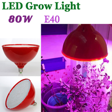 Guaranteed 100% 80W AC85-265V E40 Red/Bule SMD3528 800 LEDs Plant Grow Light Lamps For Flowering Plant and Hydroponics System