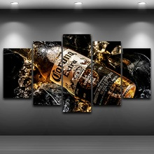 Beer Bottle Artistic Printed Drawing on Canvas Spray Oil Painting Decoration Framed wall art picture Printed Home Decor AE1030(China)