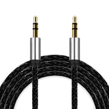 2017 3M 3.5mm Audio Cable Male To Male Flat Jack 3.5 mm Aux Cable for PC Mobile phone Speaker Headphone MP3 Tablet Black