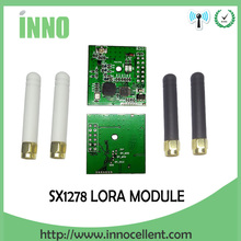 2pcs LORA module PM1278 UART LORA technology, IOT ,433MHZ ISM RF transceiver Sx1278 chip+2pcs white/black 433MHz antenna