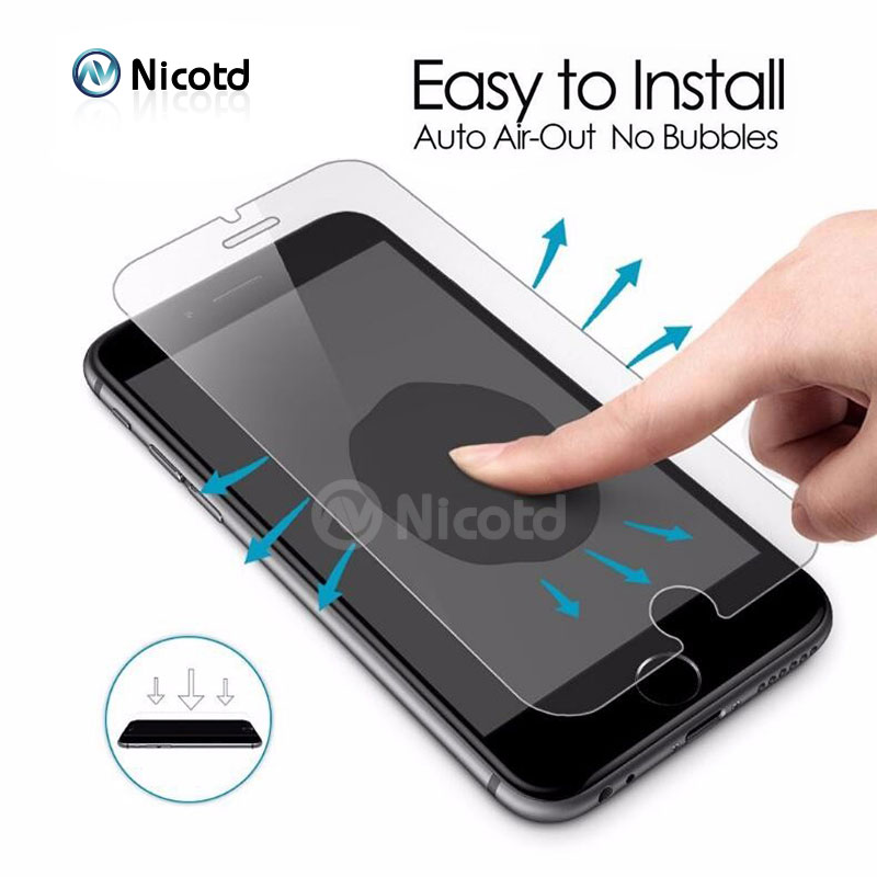 Nicotd HD Tempered Glass For iPhone 7 Plus 6 6s Plus 5s 5 SE 4S 4 Anti-Shock Screen Protector Film For iPhone 8 Plus X XS MAX XR