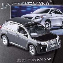High quality New Lexus RX350 1:32 kids toy pull back sound light car model alloy diecast collection luxury Car SUV gift