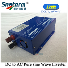 Free Shipping!! 300W DC12V/DC24V/DC48V Input to 220VAC Output Peak Power 600W Solar PV Power Inverter Pure sine wave Converter