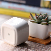 2pcs mini pots home micro garden decoration square juicy plants vase flowerpots container small bonsai pot DIY accessories props