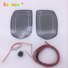 Sansour Car Mirror Glass Heated Pad Mat Defoggers Remove Frost Fit Most DC 12V Vehicle Side Mirror Glass Heat Heated Pad x 2pcs(China)