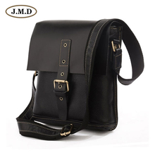 J.M.D New Style Fashion Design Genuine Leather Men's Front Flap Buckle Key Closure Crossbody Shoulder Bag Messenger Bag 7157A/B