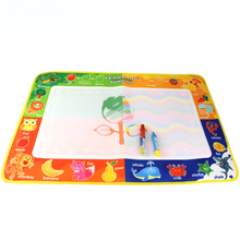 55 * 37cm Colorful Water Drawing Mat with Magic Pen Cloth Water Drawing Board for Kids Art Education Children Drawing Toys