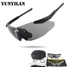 ICE Cycling Sunglasses Tactical Military Glasses Army Goggles 3 Lens TR90 Oculos Ciclismo Safety Glasses Men Wargame Eyewear