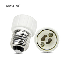 1Pcs E27 to GU10 Fireproof Material lamp Holder Converters Socket Adapter light Bulb Base Type(China)