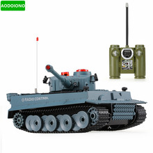 1/24 Scale German Tiger Infrared Fighting RC Battle Tank with Sound and Lights RC Tank Toys