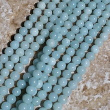 2017 Special Offer Rushed Metal Round-brilliant-shape Tiny Round Mint Amazonite Beads Perfect For Accent(China)