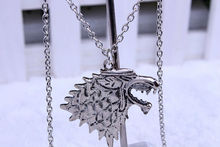 European and American fashion jewelry A Song of Ice and Fire Game of Thrones Stark wolf necklace