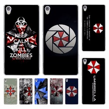 Umbrella Corporation Theme Resident Evil hard transparent Cover Case for Sony Xperia z5 compact z5 premium z4 z3 M4 M5 XA