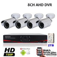 Home 8CH Outdoor Waterproof Day Night Security Camera System 8 Channel CCTV AHD 960H DVR Video Surveillance Kit Built in 2TB HDD