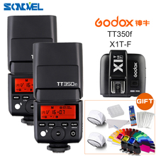 2XGodox FlashSpeedlite TTL TT350F High Speed 1/8000s GN36 2.4G wireless X System+Transmitter Trigger X1T-F Kit For Fuji Fujifilm(China)