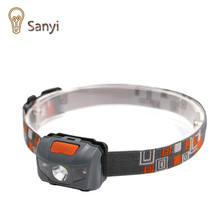 Sanyi R3 + 2LED 800 Lumens 4 Modes Mini Headlamp light Outdoor Headlight Waterproof Head Lamp Lantern For Hunting USE AAA
