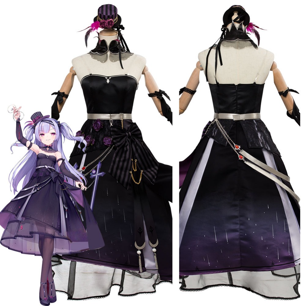 Azur Lane No.106 Ajax Cosplay Costume Uniform Outfit Purple Black Dress Gown Women Halloween Carnival Costumes Custom Made