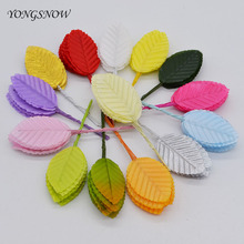 10Pcs Leaf-shaped Flowers Artificial Green Leaves Silk Flower DIY Handmade Wreath Wedding Party Decoration Home Garden Decor 8Z