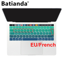 AZERTY EU Version Silicone Keyboard Cover Protector Ultra Thin Soft for Apple MacBook Pro 13 15 Touch Bar Retina A1706 A1707