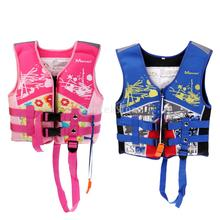 S/M/L Pink/Blue Kids Child Buoyancy Life Jackets Vest with Whistle for Swimming Kayaking Surfing Boating Rafting