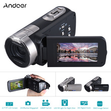 "Andoer HDV-312P Video Camera Full HD 1080P Portable Camcorders 16x Zoom 20MP Home Use Digital Camera w/ 2.7"" Rotating LCD Screen(China)"