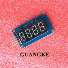 1pcs 4 Bits TM1637 Red Digital Tube LED Display Module & Clock for Arduino LED(China)
