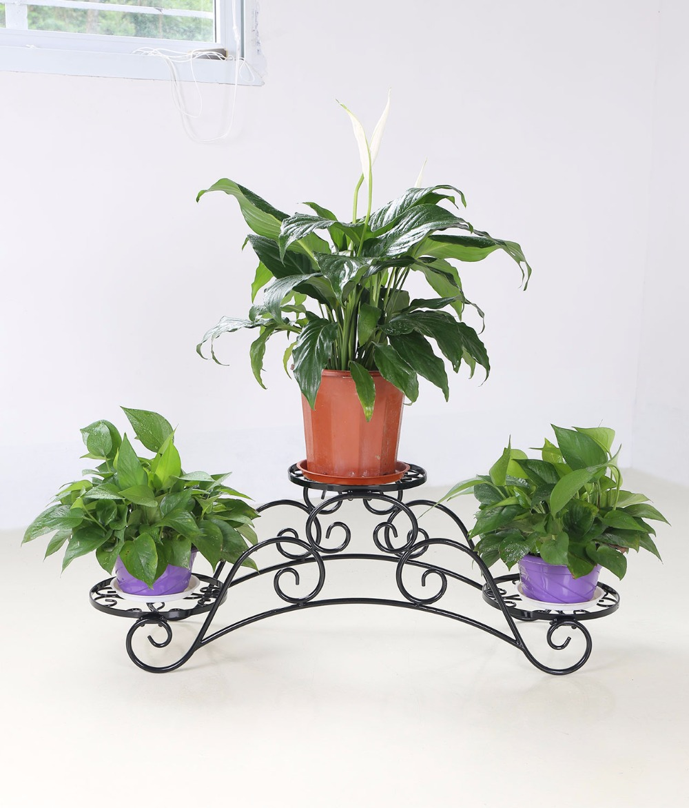 Elegant Arch Metal Potted Garden Patio Display Plant Rack Flower Flower Stand Suitable for Home Use<br>