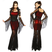 Gothic Sexy Costume Halloween Dress Costume Sexy Witch Vampire Costume Women Masquerade Party Halloween Cosplay Costume 8836