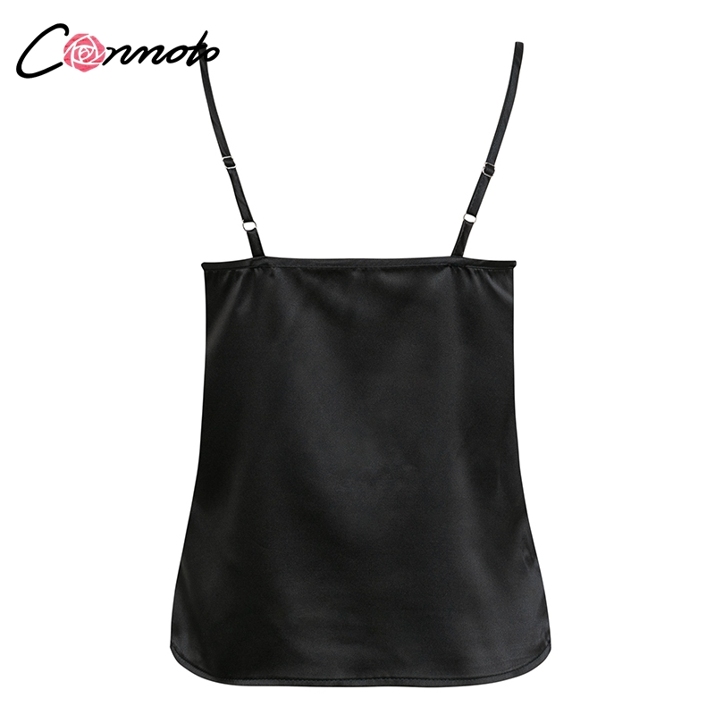 Club Satin Women's Solid Camis Top, Spaghetti Strap, Backless Solid Sexy Casual Basic Top 34