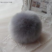 Naivety 1PC Cute Faux Rabbit Fur Ball Chain Pendant Decoration For Bag CS61108 drop shipping