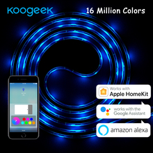 Koogeek 6.6ft 60 LED Wi-Fi Smart Light Strip Alexa Apple HomeKit Google Assistant Voice Control Remote Control Dimmable IP65