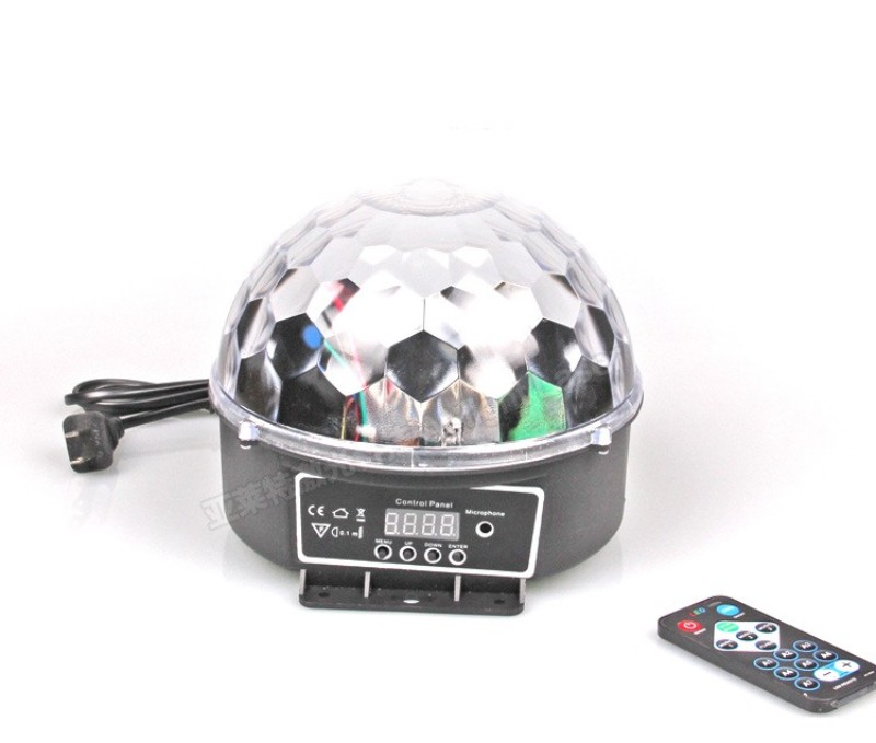 DMX512 6LED 18W Remote Control Crystal Magic Ball Led Stage Lamp Disco Laser Light Party Lights Sound Control Christmas KTV<br><br>Aliexpress