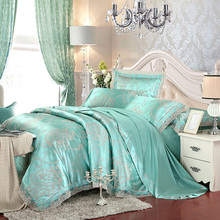 Green luxury mandala print bedding sets soft slippery silk cotton linens Queen/King Set duvet cover set+flat sheet+pillow shams(China)