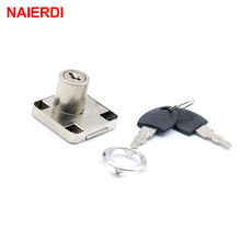 NAIERDI-138 Furniture Iron Drawer Locks Universal Cabinet Desk Cupboard Lock Home Latch Hasp For Furniture Hardware