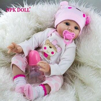 NPKDOLL 22 Pulgadas 55 CM Realista Renacer Baby Dolls Realista Falsa Hecha A Mano de Los Bebés Para Niños de Regalo de Navidad para la venta