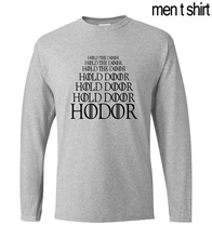 Game of Thrones HODOR Hold the Door men's long sleeve T-shirts 2017 autumn 100% cotton fitness hip hop loose Camisetas Masculina